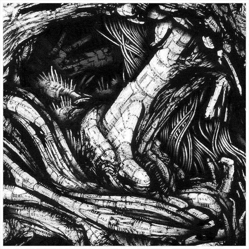 dip pen and ink artwork detail by francesco beretta